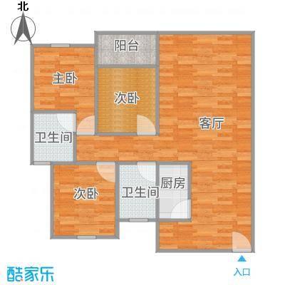 棕榈假日131.5方A4户型3房两厅