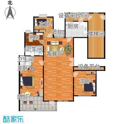 百隆东外滩花园174.00㎡N2-B户型10室-副本