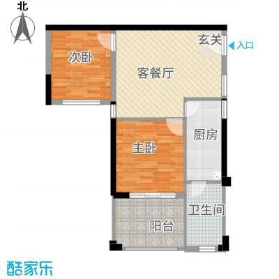 南国豪苑77.87㎡A区3、4座0户型2室2厅1卫1厨