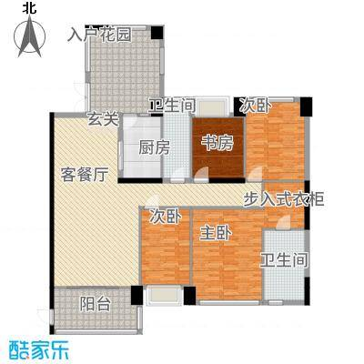 世纪海岸花园15.57㎡A户型4室2厅2卫1厨