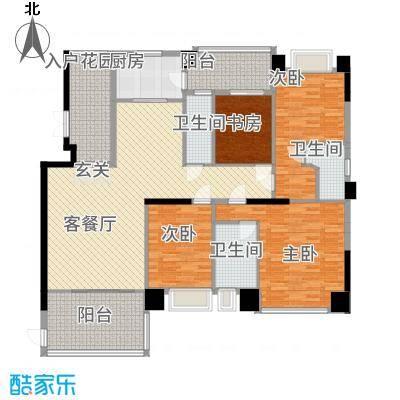 世纪海岸花园E户型4室2厅3卫1厨
