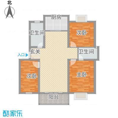 鸿泰・南郡名苑14.00㎡多层A户型3室2厅2卫1厨