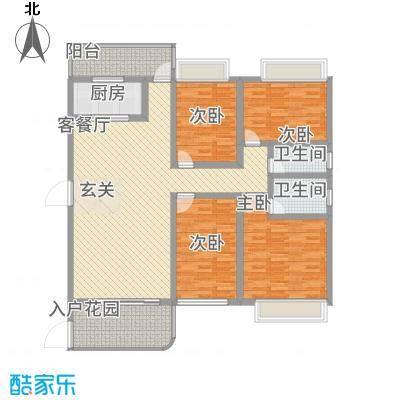 公园1号162.00㎡1梯01户型4室2厅2卫1厨