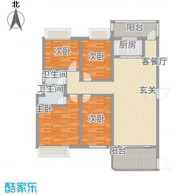 公园1号15.00㎡1梯02户型4室2厅2卫1厨