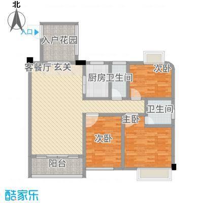 公园1号12.00㎡2梯01户型3室2厅2卫1厨