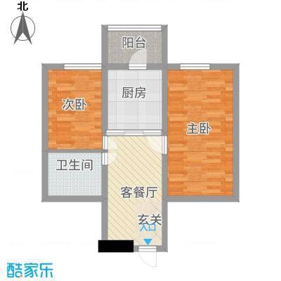 安通家园47.16㎡2室1厅1卫1厨