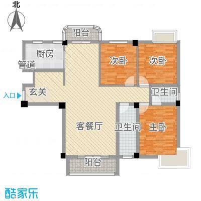 洪城时代广场143.00㎡户型3室