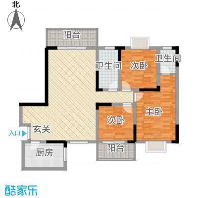 长虹百花沁苑135.20㎡A户型4室2厅2卫1厨