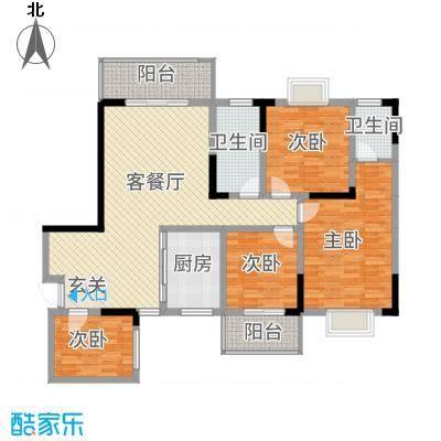 长虹百花沁苑142.62㎡G户型4室2厅2卫1厨