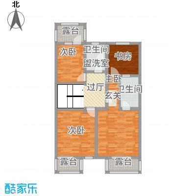 城发水城庄园117.00㎡别墅D二层户型4室1厅2卫