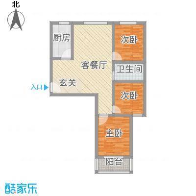 凯旋城15.67㎡5#G户型3室2厅2卫1厨