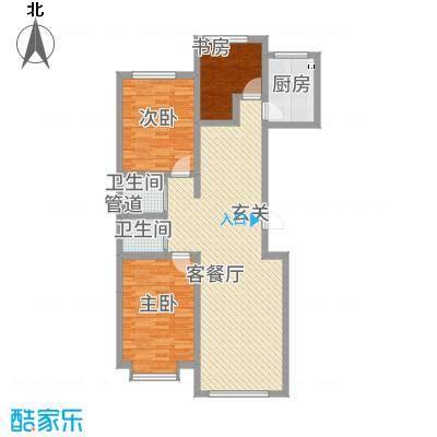 当代晶典113.10㎡户型3室2厅2卫