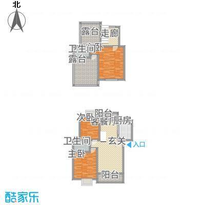西科苑12.27㎡A2户型3室2厅2卫