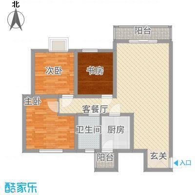 西科苑B1户型3室2厅1卫