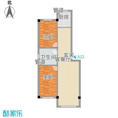 聚福园1.81㎡户型2室2厅1卫1厨