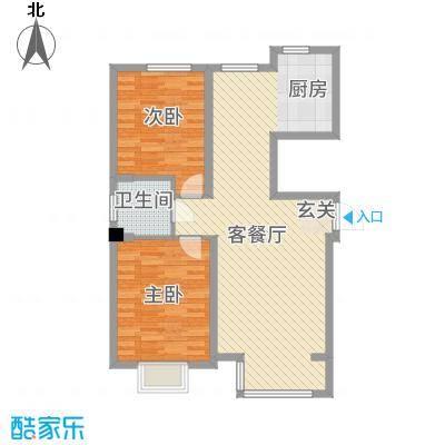 海园壹品7.55㎡A-4#-02、5#-02户型2室2厅1卫1厨
