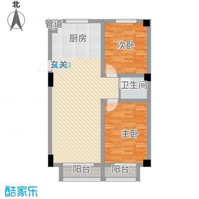 抚顺兴隆摩尔世界13.13㎡A户型2室2厅1卫