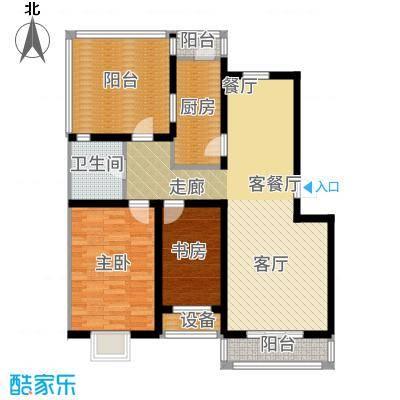 乐东馨园B'-2室2厅1卫 97.67㎡户型-副本