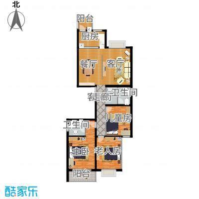 D户型152.55平三室两厅-副本