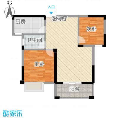 格林公馆2G3户型2室2厅1卫1厨