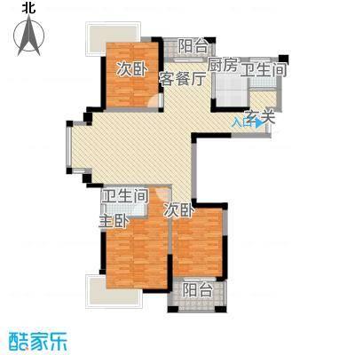 格林公馆136.00㎡3G3户型3室2厅2卫1厨