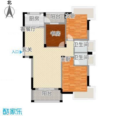 格林公馆126.00㎡3G1户型3室2厅2卫1厨