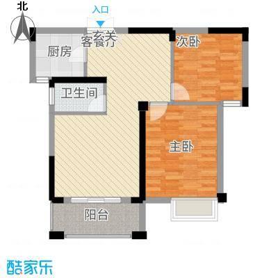 格林公馆8.50㎡2G2户型2室2厅1卫1厨