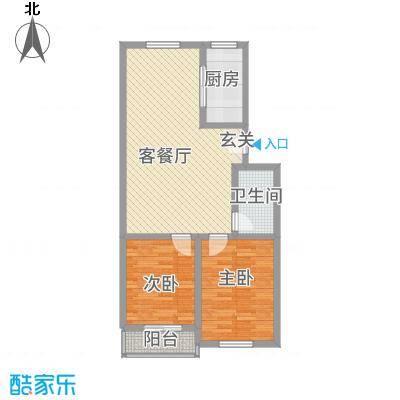 翠阜新村户型2室2厅1卫1厨-副本