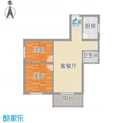 福寿居・老年公寓85.10㎡A-户型2室2厅1卫1厨