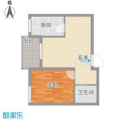 福寿居・老年公寓58.70㎡A-户型1室1厅1卫1厨