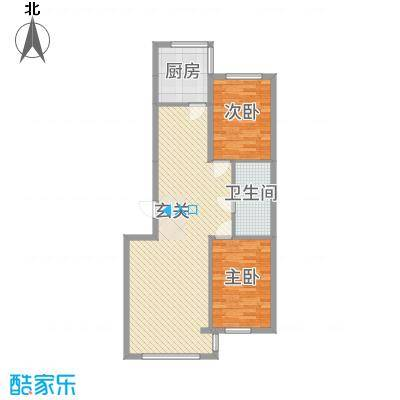 龙城佳园6.00㎡96户型2室2厅1卫