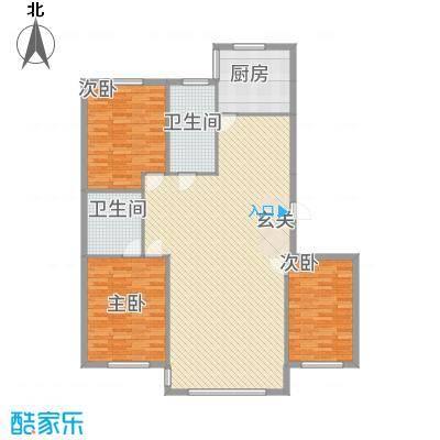 龙城佳园155.00㎡155户型3室2厅2卫1厨