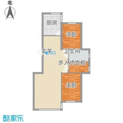 龙城佳园11.00㎡110户型2室2厅1卫