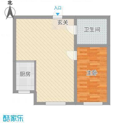 东信桃花源52.00㎡52户型1室1厅1卫