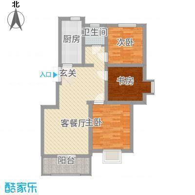 峰华都市花园户型3室1厅