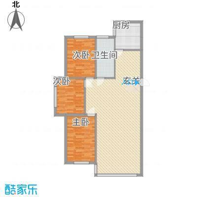 龙城佳园123.00㎡123户型3室2厅1卫