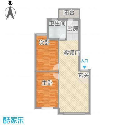 福宁雅居8.00㎡89户型2室2厅1卫1厨