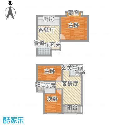 泰和・水岸嘉园3号楼一居二居室户型