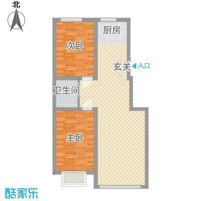 东信桃花源82.00㎡82户型2室2厅1卫