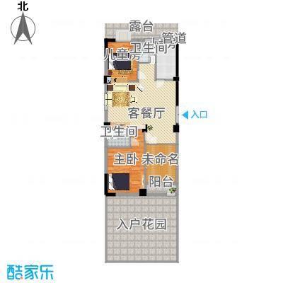 龙海明发广场11.46㎡6、7、8#楼A1户型3室2厅2卫