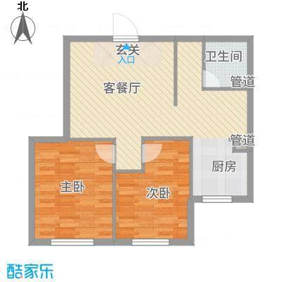 宗裕.悦府鑫城78.51㎡宗裕悦府鑫城C02户型2室2厅1卫1厨