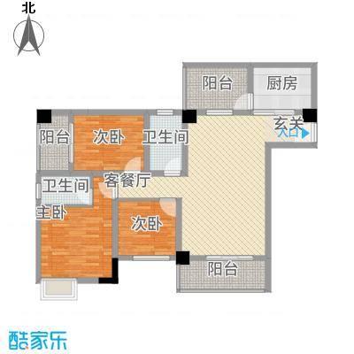 中央广场115.00㎡C4户型3室2厅2卫