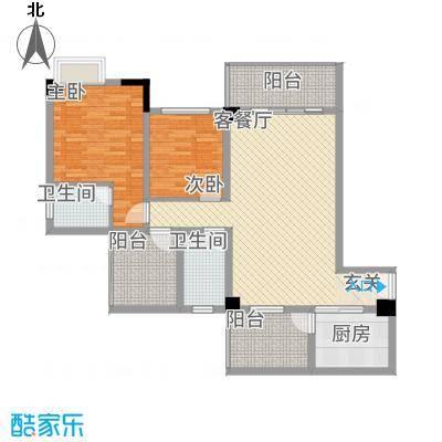 中央广场15.30㎡C1户型2室2厅2卫