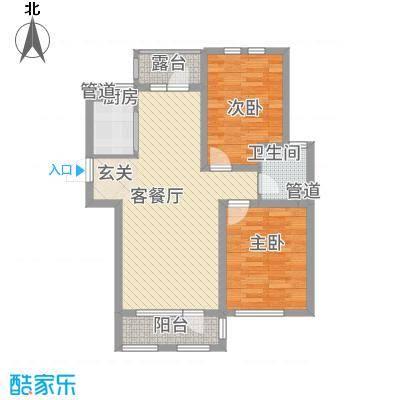 筑景・蓝河湾83.64㎡筑景蓝河湾户型