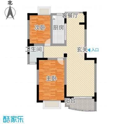 翠屏清华园户型2室1厅1卫1厨