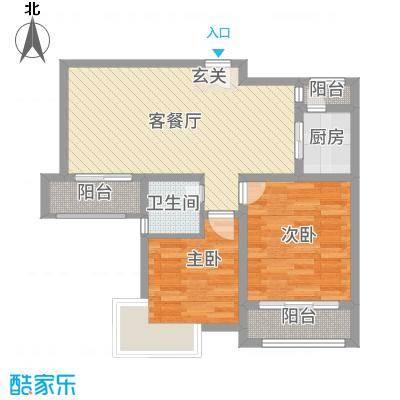 水都欣城3.60㎡3#楼-2户型2室2厅1卫1厨