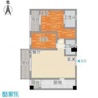 中力广场15.71㎡B区户型