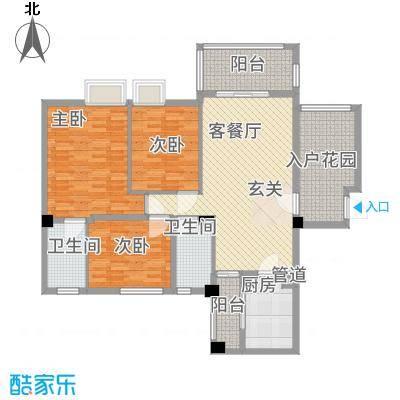 东方华尔街87.21㎡B1-4户型2室2厅2卫