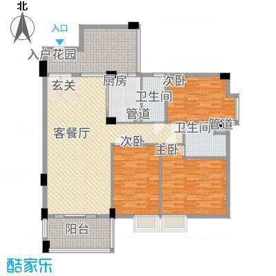 东方华尔街13.80㎡B3-2户型3室2厅2卫