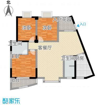 东方阁23131.42㎡C2户型3室2厅2卫1厨